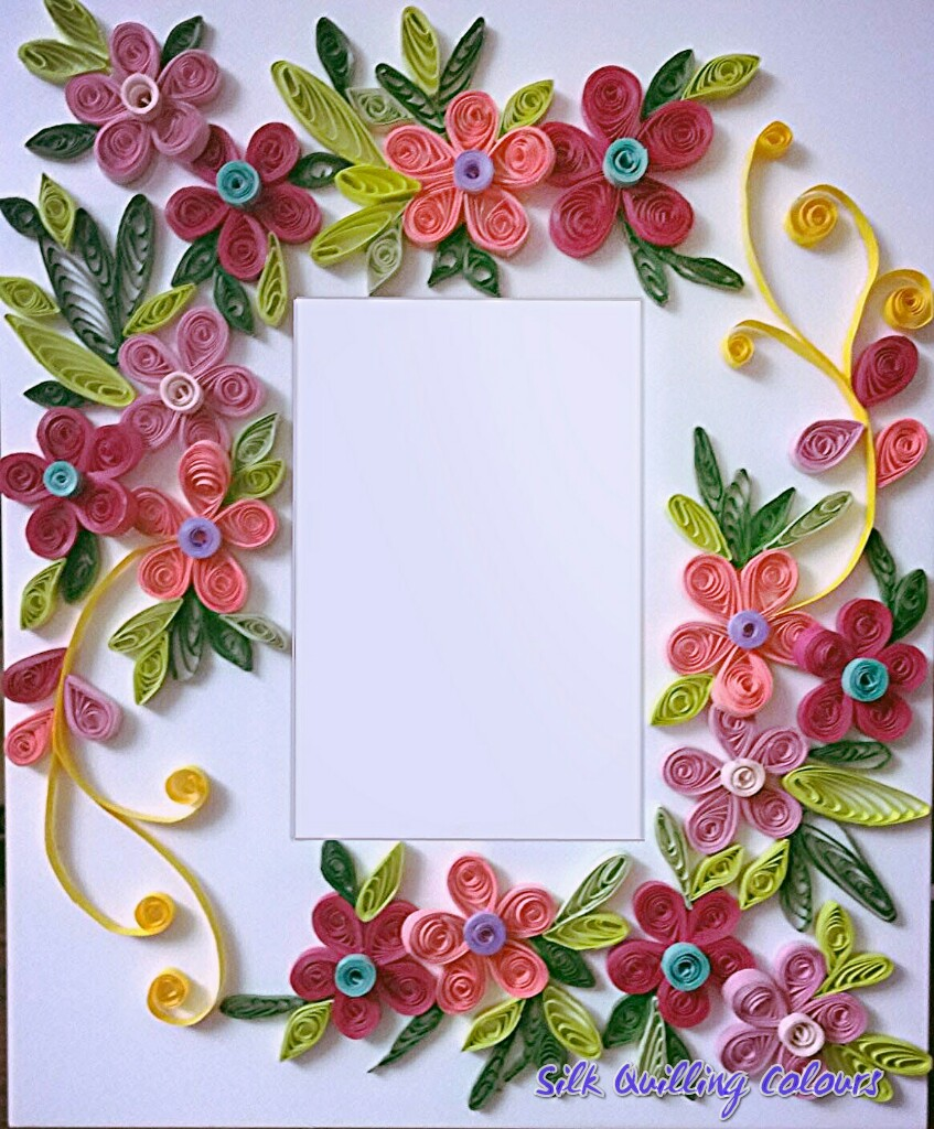 Book Cover Paper Quilling : Quilling frame acrylic sheet silk colours