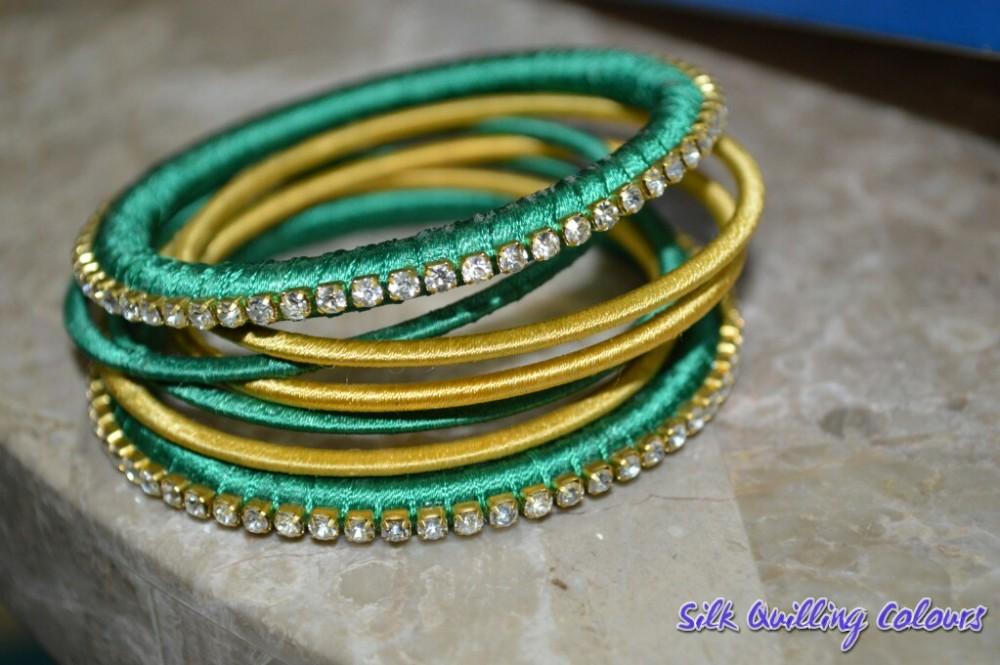 Silk Threaded Bangles - 1