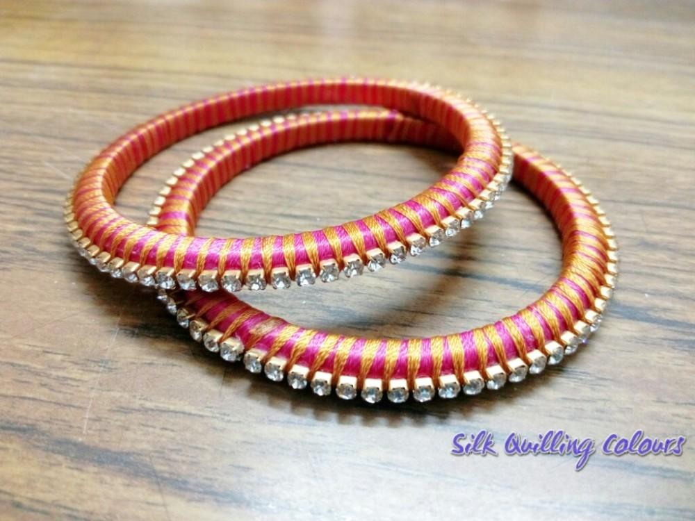 Silk Threaded Bangles - 5 - Part 1